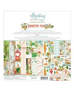 Set dvostranskih papirjev - COUNTRY FAIR - 30,5x30,5cm - 12 listov + bonus - 240g - Mintay