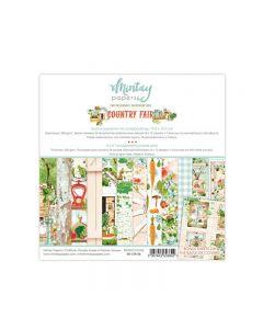 Set dvostranskih papirjev - COUNTRY FAIR - 15X15cm - 24 listov + bonus - 240g - Mintay