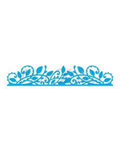 Rezalna šablona - robna - vejica z listi - 14x2,5cm - Craft Passion