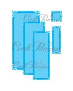 Rezalna šablona - Okvirji DL 2 - 20,8x9,8cm (največji) - Craft Passion