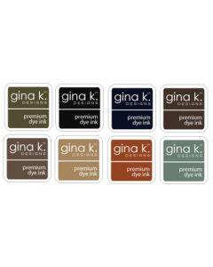 Set 8-ih barvnih blazinic - INK CUBE - NEUTRAL - Gina K Designs