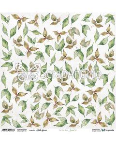 Papir za rezanje - Leaves 6 - 30,5x30,5cm - 250gg