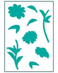 Rezalna šablona - WATERCOLOR FLOWERS - Gina K Designs