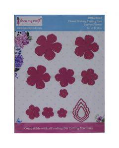 Rezalna šablona Dress my Craft - Curved Flower