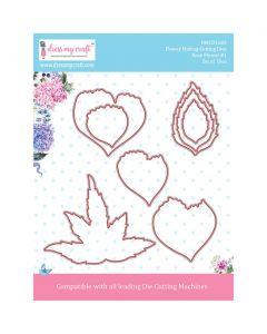Rezalna šablona Dress my Craft - Rose Flower #1
