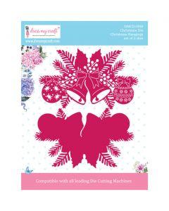 Rezalna šablona Dress my Craft - Christmas Hangings - 90x150mm