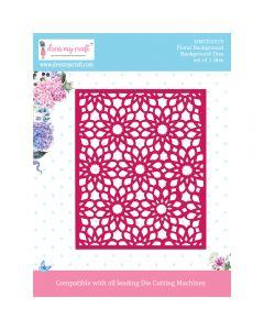 Rezalna šablona Dress my Craft - Floral Background - 140x114mm