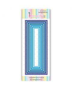 Rezalna šablona - Dotted Slimline Die - DL - 154x22mm do 215x88mm - Dress my Craft