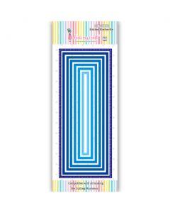 Rezalna šablona - Stitched Slimline Die - DL - 138x21mm do 215x88mm - Dress my Craft