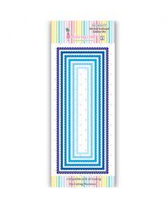 Rezalna šablona - Stitched Scalloped Slimline Die - DL - 150x23mm do 216x88mm - Dress my Craft