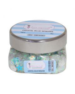 Polnilo za tresočke - Sequins - Crystal Blue - 25g