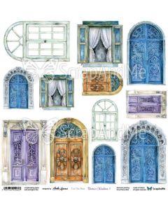 Papir za rezanje - Doors & Windows 1 - 30,5x30,5cm - 250g