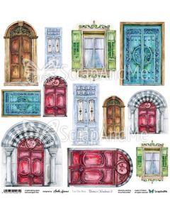 Papir za rezanje - Doors & Windows 2 - 30,5x30,5cm - 250g
