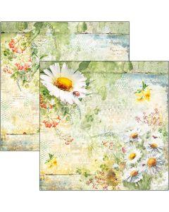 Dvostranski papir - Daisies - 30,5x30,5cm - 190g
