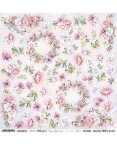 Enostranski papir - Especially for you Flowers - 30,5x30,5cm - 250g
