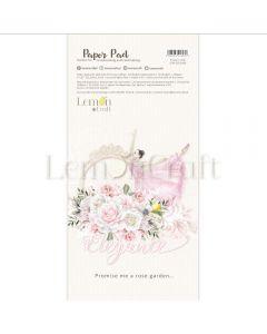 Set obojestranskih papirjev za rezanje - Elegance - 15,24x30,5cm - 24 listov - 250g - Lemoncraft