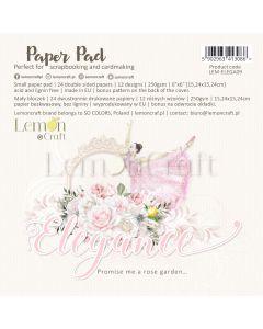 Set obojestranskih papirjev - Elegance - 15x15cm - 24 listov - 250g - Lemoncraft