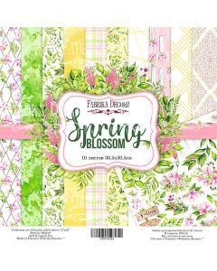 Set obojestranskih papirjev - Spring blossom  30,5 x 30,5 cm
