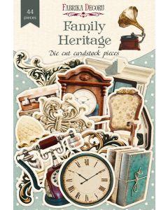 Set izrezov iz papirja -  Family Heritage - 44 kos - 250g