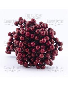 Dekorativne jagode - Bordeaux - 9mm - 10 kos