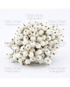 Dekorativne jagode - White - 12mm - 10 kos