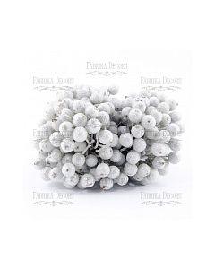 Dekorativne jagode - Silver - 12mm - 10 kos