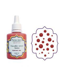 Liquid enamel dots - Red poppy - 30 ml