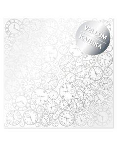 Paus papir s srebrnimi urami - 30x30cm - 90g