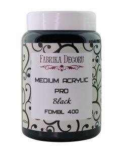 Premaz - medium acrylic black - 400ml