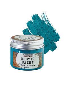 Rustic paint - Dark turquoise - 50ml