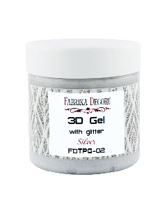 "3-D gel z bleščicami ""Silver"" - 150ml"