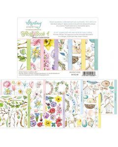 Set dvostranskih papirjev - Flora Book 4 - 15,2x20,3cm - 24 listov - 240g - Mintay
