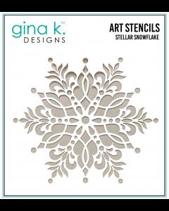 Stencil šablona - STELLAR SNOWFLAKE - Gina K Designs