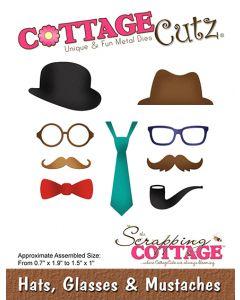 Rezalna šablona CottageCutz Hats, Glasses & Mustaches