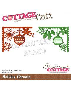Rezalna šablona CottageCutz Holiday Corners