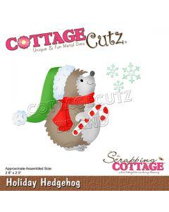 Rezalna šablona CottageCutz Holiday Hedgehog