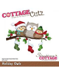 Rezalna šablona CottageCutz Holiday Owls