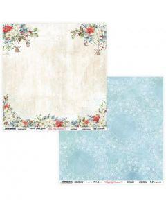 Dvostranski papir - Holly Jolly Christmas 03/04 - 30,5x30,5cm - 250g