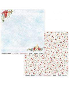 Dvostranski papir - Holly Jolly Christmas 05/06 - 30,5x30,5cm - 250g