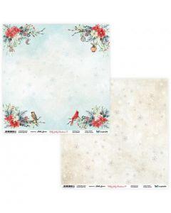 Dvostranski papir - Holly Jolly Christmas 07/08 - 30,5x30,5cm - 250g