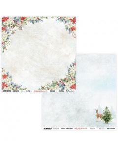 Dvostranski papir - Holly Jolly Christmas 09/10 - 30,5x30,5cm - 250g
