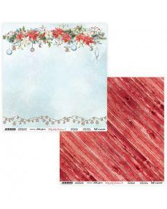 Dvostranski papir - Holly Jolly Christmas 11/12 - 30,5x30,5cm - 250g