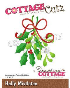Rezalna šablona CottageCutz Holly Mistletoe
