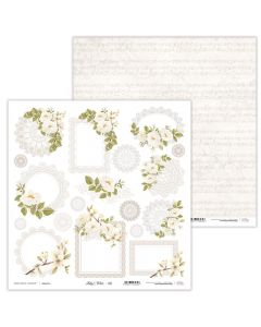 Dvostranski papir - Holy & White 10 - 30,5x30,5cm - 250g - Laserowe LOVE