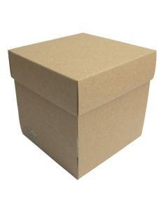 Osnova za škatlico presenečenja - 10x10x10cm - kraft - 300g - GoatBox