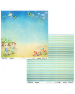 Dvostranski papir - Joyful Kids 07/08- 30,5 x 30,5 cm - 250g