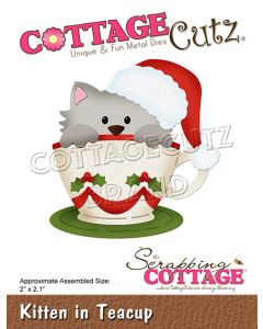 Rezalna šablona CottageCutz Kitten In Teacup