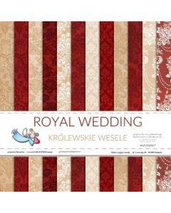 Set dvostranskih papirjev - ROYAL WEDDING - 30,5x30,5cm - 12 listov - 200g