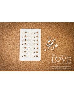 Chipboard izrezki - Zvezdice - Laserowe Love