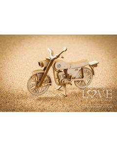 Chipboard izrezki - Motor 3D - 85x35x65mm - Laserowe Love